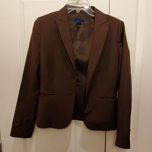 J.Crew Brown Wool Super 120s Suit Jacket